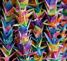 Paper Cranes at Fushimi Inaritaisha by nekineko