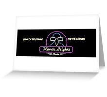 Raven Heights Radio Banner Greeting Card