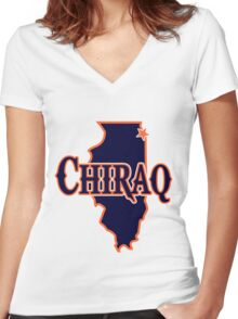 Chiraq Chicago Bears Women's Fitted V-Neck T-Shirt