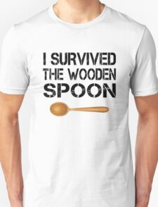 I Survived The Wooden Spoon Funny Wooden Spoon Survivor Birthday Party Gift T-Shirt