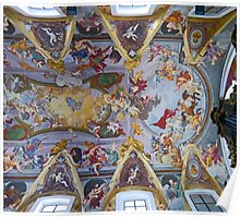 The ceiling of Ljubljana Cathedral Poster