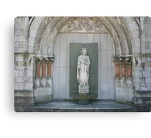 Statue at the Guild Hall, Plymouth Canvas Print
