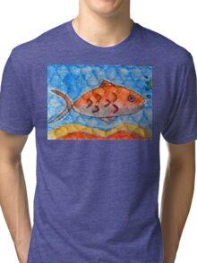 Orange fish Tri-blend T-Shirt