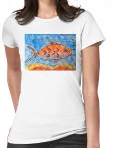 Orange fish Womens Fitted T-Shirt