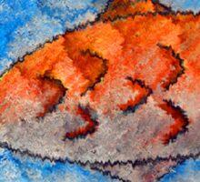Orange fish Sticker