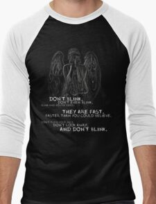 Doctor Who-Don't Blink Speech  Men's Baseball ¾ T-Shirt