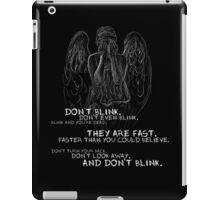 Doctor Who-Don't Blink Speech  iPad Case/Skin