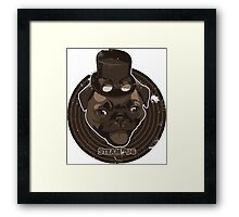 Steam Pug Framed Print