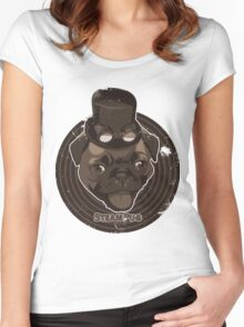 Steam Pug Women's Fitted Scoop T-Shirt