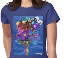 Rainbow Veins Womens Fitted T-Shirt