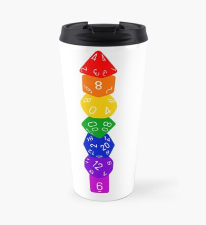 Dice tower-Rainbow Travel Mug