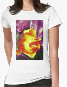 Surreal Rose Womens Fitted T-Shirt