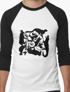 Wild Creatures Big And Small Silhouette Men's Baseball ¾ T-Shirt