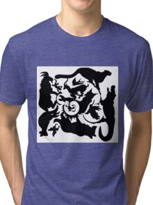 Wild Creatures Big And Small Silhouette Tri-blend T-Shirt