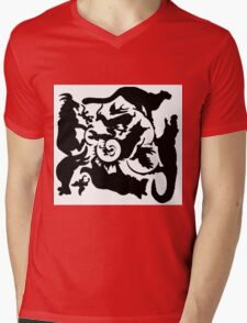 Wild Creatures Big And Small Silhouette Mens V-Neck T-Shirt