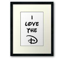 I love the D (Disney inspired) Bachelor or Bachelorette shirt Framed Print