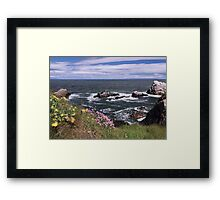 Along The Cliffs Framed Print