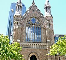 St Stephens Cathedral, Brisbane, Qld, Australia by Margaret  Hyde