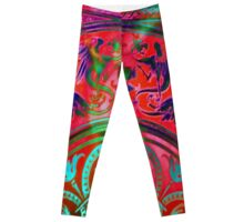 3988 Cherubs and Griffins and Heads, Oh My! Leggings