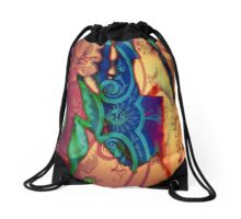 3885 Abstract Patterning Drawstring Bag