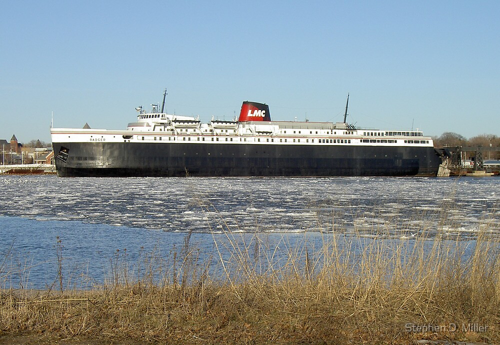 Lake Michigan Carferry SS Badger by Stephen D. Miller