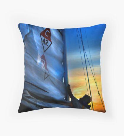 Set The Mast Down by: Linaji Throw Pillow