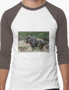 THE LONER - BLUE WILDEBEEST (Connochaetes taurinus) Men's Baseball ¾ T-Shirt