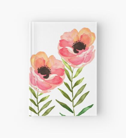 Watercolor Flower Hardcover Journal
