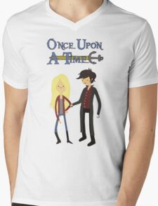 Once Upon An Adventure Time Mens V-Neck T-Shirt