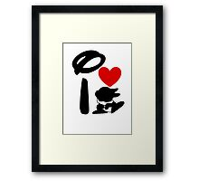 I Heart Thumper Framed Print