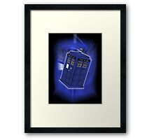 TARDIS Through Time Framed Print
