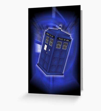 TARDIS Through Time Greeting Card
