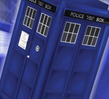 TARDIS Through Time Sticker