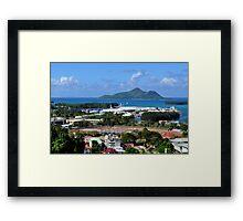 World Tinniest Capital City Framed Print