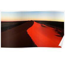 Big Red Simpson Desert. Poster