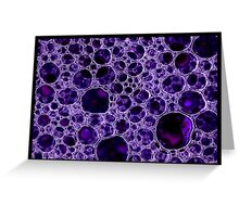 Crystal Bubbles Greeting Card