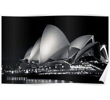 Sydney Opera House @ Night Poster