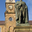 Statue & Clock Tower by Carol Bleasdale