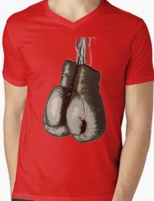Vintage Boxing Gloves Mens V-Neck T-Shirt