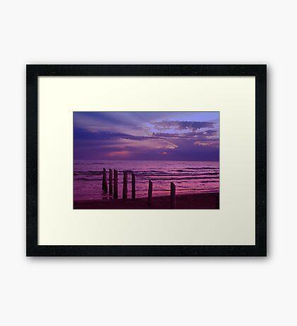 Sauble Beach at Dusk Framed Print
