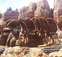 thunder mountain dinosaur by mickiemouse