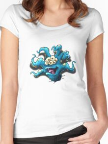 Happy Tentacle head chest burster Women's Fitted Scoop T-Shirt