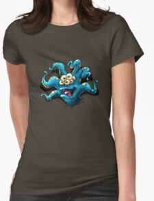 Happy Tentacle head chest burster Womens Fitted T-Shirt