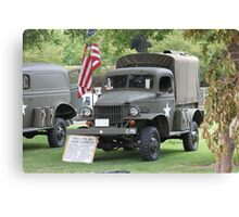 WWII 1941 Dodge 1/2 ton Army Truck Canvas Print