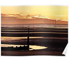Irish Sea, Sunset in April Poster