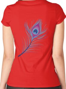 the peacock feather Women's Fitted Scoop T-Shirt
