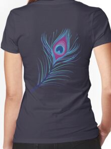 the peacock feather Women's Fitted V-Neck T-Shirt