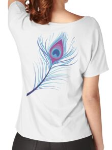 the peacock feather Women's Relaxed Fit T-Shirt