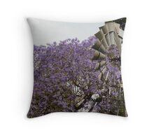 Jacaranda and Windmill Throw Pillow
