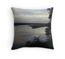 Mattaponi River Sunset Throw Pillow